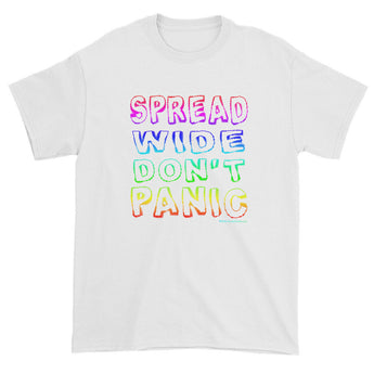 Spread Wide Don't Panic Men's Short Sleeve T-Shirt + House Of HaHa Best Cool Funniest Funny Gifts