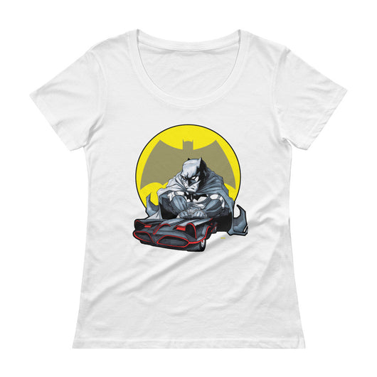 Lil' Batmobile Ladies' Scoopneck Women's T-Shirt + House Of HaHa