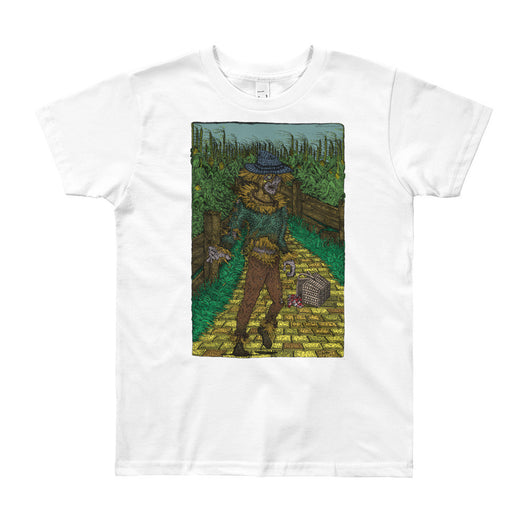 Walkers Of Oz: Zombie Wizard of Oz Cornfield Parody  Youth Short Sleeve T-Shirt + House Of HaHa