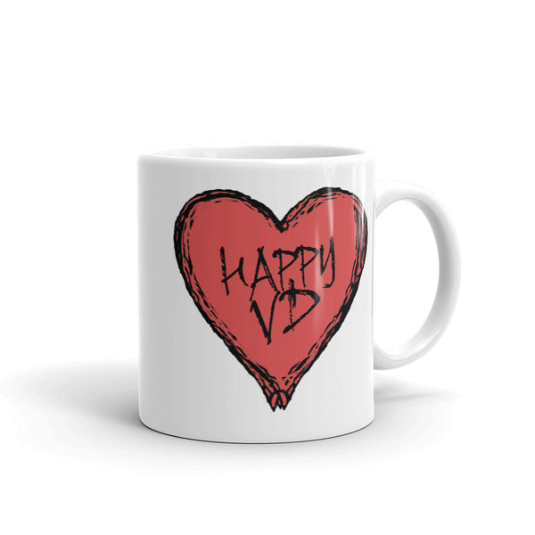 Happy VD Valentines Day Heart STD Holiday Humor Mug + House Of HaHa Best Cool Funniest Funny Gifts