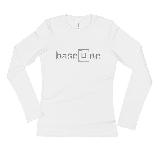 BaseLine Lithium Bipolar Awareness Ladies' Long Sleeve T-Shirt + House Of HaHa Best Cool Funniest Funny T-Shirts
