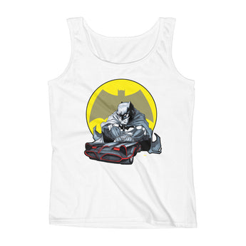 Lil' Batmobile Ladies' Tank Top - House Of HaHa