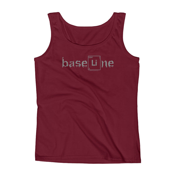 BaseLine Lithium Bipolar Awareness Ladies' Tank Top + House Of HaHa Best Cool Funniest Funny Gifts