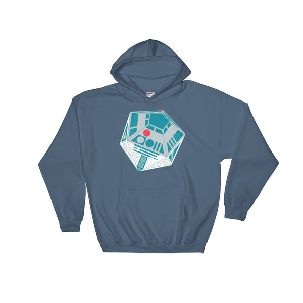 R2-D20 Star Wars Twenty Sided Gaming Die Men's Heavy Hooded Hoodie Sweatshirt + House Of HaHa