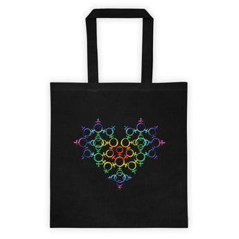 Rainbow Female Gender Venus Symbol Heart Love Unity Double Sided Print Tote bag + House Of HaHa Best Cool Funniest Funny Gifts