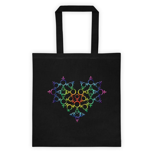 Rainbow Female Gender Venus Symbol Heart Love Unity Double Sided Print Tote bag + House Of HaHa