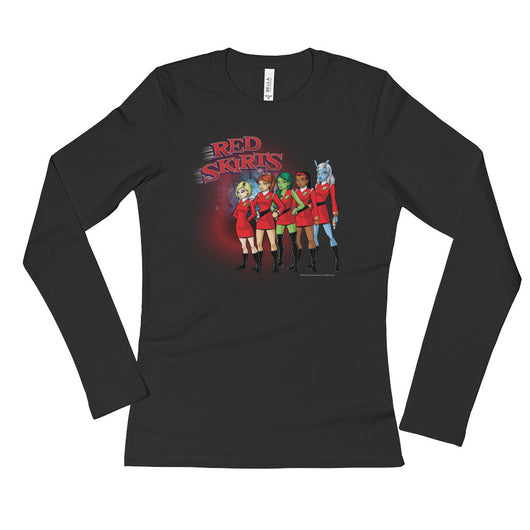 Red Skirts Security Team Ladies' Long Sleeve Women's T-Shirt + House Of HaHa