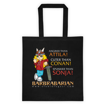 Barbrabarian Tote Bag + House Of HaHa Best Cool Funniest Funny Gifts