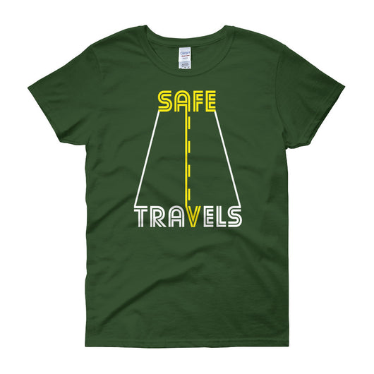 Safe Travels Vacation Road Trip Highway Driving Women's short sleeve t-shirt + House Of HaHa