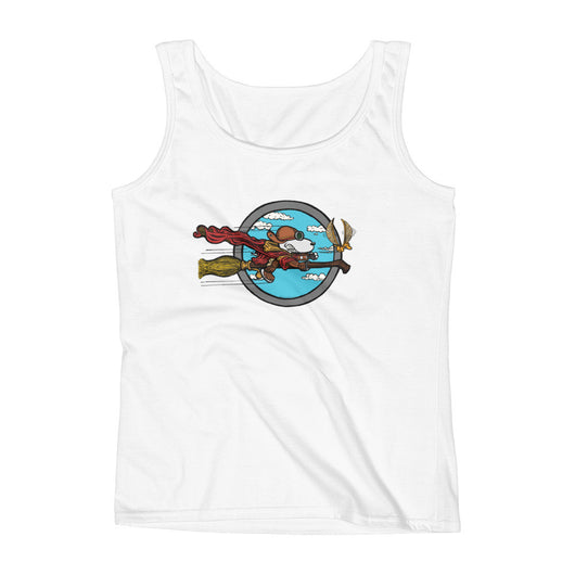 Wizard Flying Ace Ladies' Tank Top + House Of HaHa