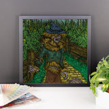 Walkers Of Oz Wizard of Oz Walking Dead Mashup Parody Framed Poster + House Of HaHa Best Cool Funniest Funny Gifts