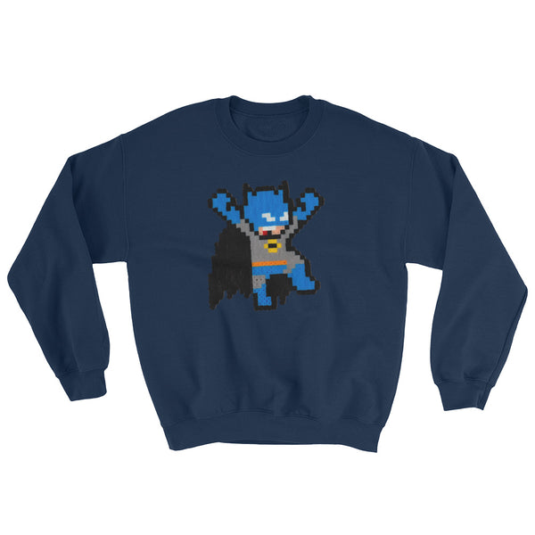 Batman Perler Art Sweatshirt by Silva Linings + House Of HaHa Best Cool Funniest Funny Gifts