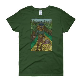 Walkers Of Oz: Zombie Wizard of Oz Cornfield Parody Women's Short Sleeve T-Shirt + House Of HaHa Best Cool Funniest Funny Gifts
