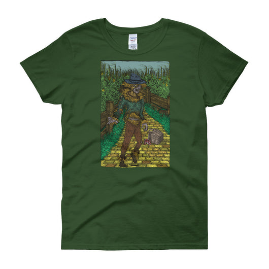 Walkers Of Oz: Zombie Wizard of Oz Cornfield Parody Women's Short Sleeve T-Shirt + House Of HaHa