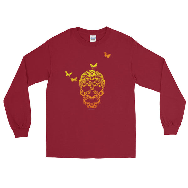 Butterfly Skull Men's Long Sleeve T-Shirt - House Of HaHa