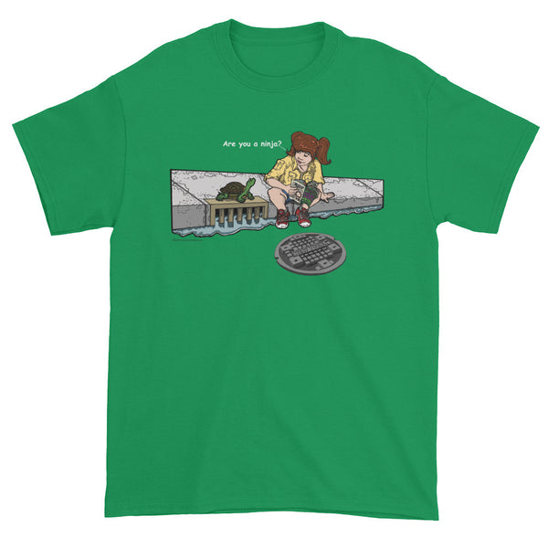 April in New York TMNT Are You a Ninja? Sewer Turtle Men's Short Sleeve T-shirt + House Of HaHa Best Cool Funniest Funny Gifts