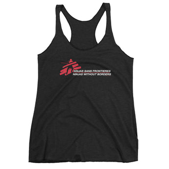 Ninjas without Borders Martial Arts Ninjutsu Fighter Women's Tank Top + House Of HaHa Best Cool Funniest Funny Gifts