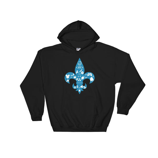 Awesome Geeks Geeky Passions Fleur de Lis Hooded Hoodie Sweatshirt + House Of HaHa Best Cool Funniest Funny Gifts
