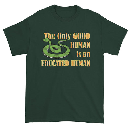 Good Human Pro Snake Tolerance Herpetology Herper Men's Short Sleeve T-Shirt + House Of HaHa Best Cool Funniest Funny T-Shirts