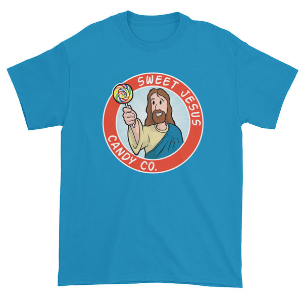 Sweet Jesus Candy Company Short Sleeve T-shirt + House Of HaHa Best Cool Funniest Funny Gifts