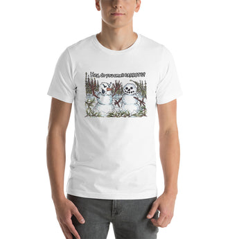Hey, do you smell CARROTS? Snowman Joke T-Shirt + House Of HaHa Best Cool Funniest Funny Gifts