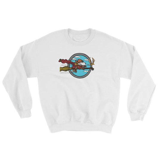 Wizard Flying Ace Sweatshirt + House Of HaHa Best Cool Funniest Funny T-Shirts