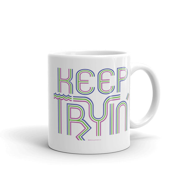 Keep Tryin' Triathlon Training Motivational Perseverance Mug + House Of HaHa Best Cool Funniest Funny Gifts