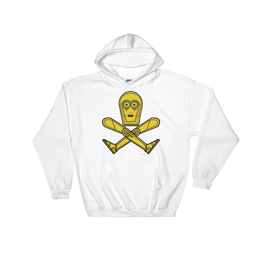 Droid Skull Crossbones Star Wars Pirate Rebels C3PO Parody Heavy Hooded Hoodie Sweatshirt + House Of HaHa Best Cool Funniest Funny T-Shirts
