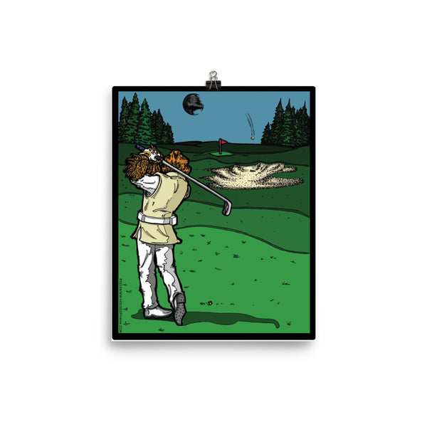 It's a Sand Trap! Admiral Ackbar Sand Hazard Golf Meme Poster - Made in USA + House Of HaHa Best Cool Funniest Funny Gifts