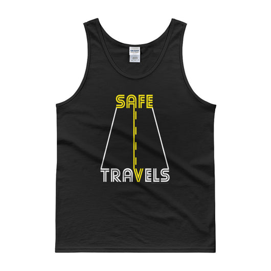 Safe Travels Vacation Road Trip Highway Driving Tank Top + House Of HaHa