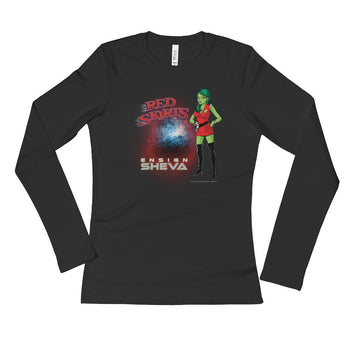 Red Skirts: Ensign Sheva  Ladies' Long Sleeve T-Shirt + House Of HaHa Best Cool Funniest Funny Gifts