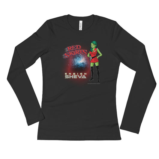Red Skirts: Ensign Sheva  Ladies' Long Sleeve T-Shirt + House Of HaHa