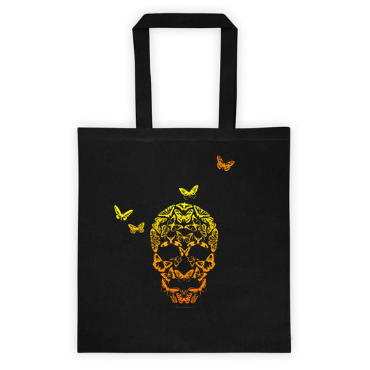 Butterfly Skull Illusion Art Tote bag + House Of HaHa Best Cool Funniest Funny Gifts