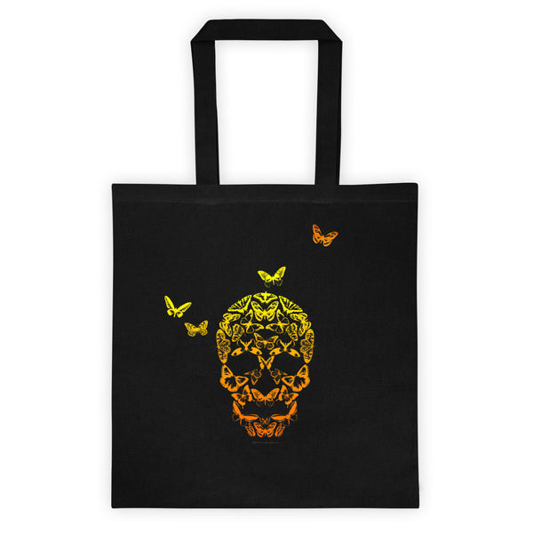 Butterfly Skull Illusion Art Tote bag + House Of HaHa Best Cool Funniest Funny T-Shirts