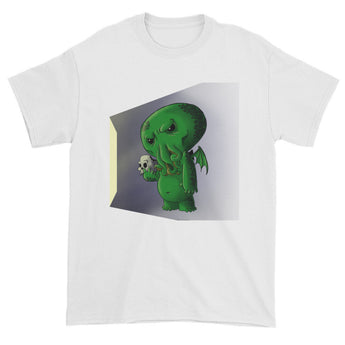 Midnight Snack Chibi Cthulhu Men's Short Sleeve T-shirt + House Of HaHa Best Cool Funniest Funny Gifts