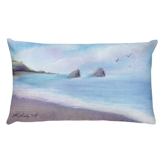 Navarro Beach State Park California Rectangular Pillow by Melody Grady + House Of HaHa Best Cool Funniest Funny T-Shirts