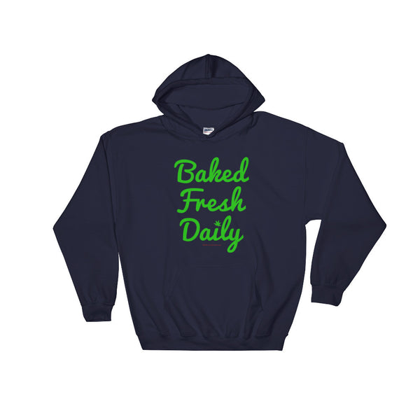 Baked Fresh Daily Men's Heavy Hooded Hoodie Sweatshirt + House Of HaHa Best Cool Funniest Funny Gifts