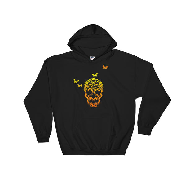 Butterfly Skull Men's Heavy Hooded Hoodie Sweatshirt - House Of HaHa