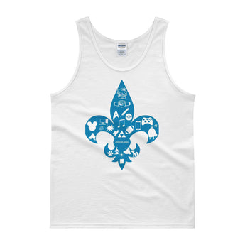 Awesome Geeks Geeky Passions Fleur de Lis Tank Top + House Of HaHa Best Cool Funniest Funny Gifts