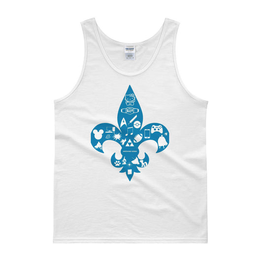 Awesome Geeks Geeky Passions Fleur de Lis Tank Top + House Of HaHa Best Cool Funniest Funny T-Shirts