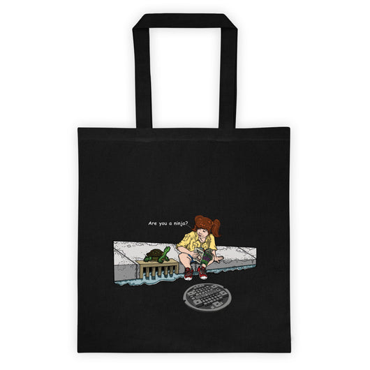 April in New York TMNT Are You a Ninja? Sewer Turtle Double Sided Print Tote Bag + House Of HaHa