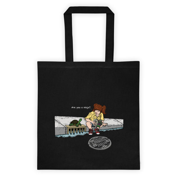 April in New York TMNT Are You a Ninja? Sewer Turtle Double Sided Print Tote Bag + House Of HaHa Best Cool Funniest Funny Gifts