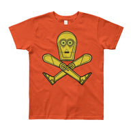 Droid Skull Crossbones Star Wars Pirate Rebels C3PO Parody Youth Short Sleeve T-Shirt - Made in USA + House Of HaHa Best Cool Funniest Funny Gifts