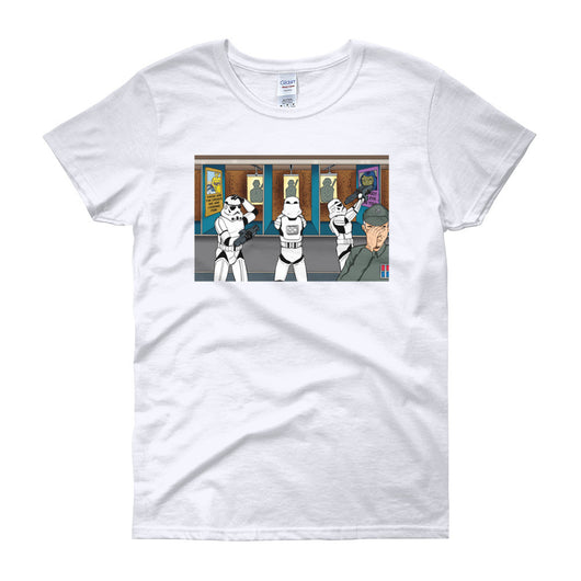 Troopers Shooting Gallery Parody Women's Short Sleeve T-Shirt + House Of HaHa