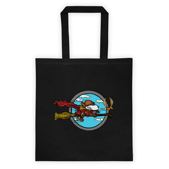 Wizard Flying Ace Double Sided Print Tote Bag + House Of HaHa Best Cool Funniest Funny Gifts
