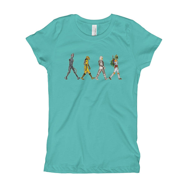 Bounty Road's Fab Four Beatles Star Wars Mash Up Parody Girl's Princess T-Shirt + House Of HaHa Best Cool Funniest Funny Gifts