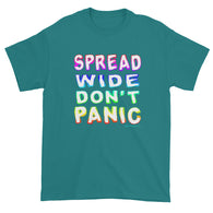 Spread Wide Don't Panic Men's Short Sleeve T-Shirt