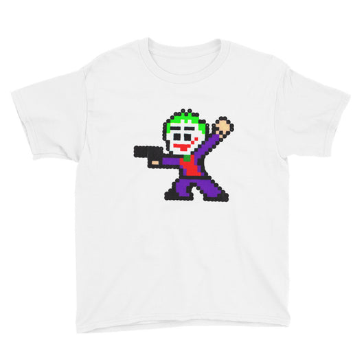 Joker Perler Art Youth Short Sleeve T-Shirt by Silva Linings