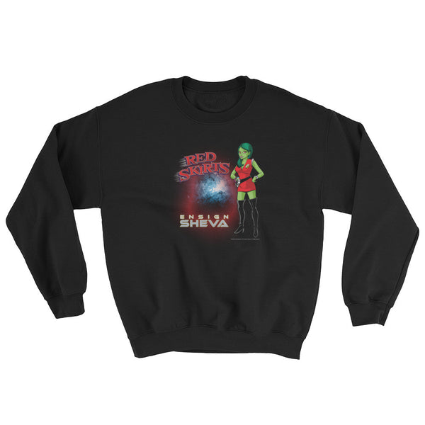 Red Skirts: Ensign Sheva  Mens Sweatshirt + House Of HaHa Best Cool Funniest Funny Gifts