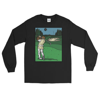 It's a Sand Trap! Admiral Ackbar Sand Hazard Golf Meme Long Sleeve T-Shirt + House Of HaHa Best Cool Funniest Funny Gifts